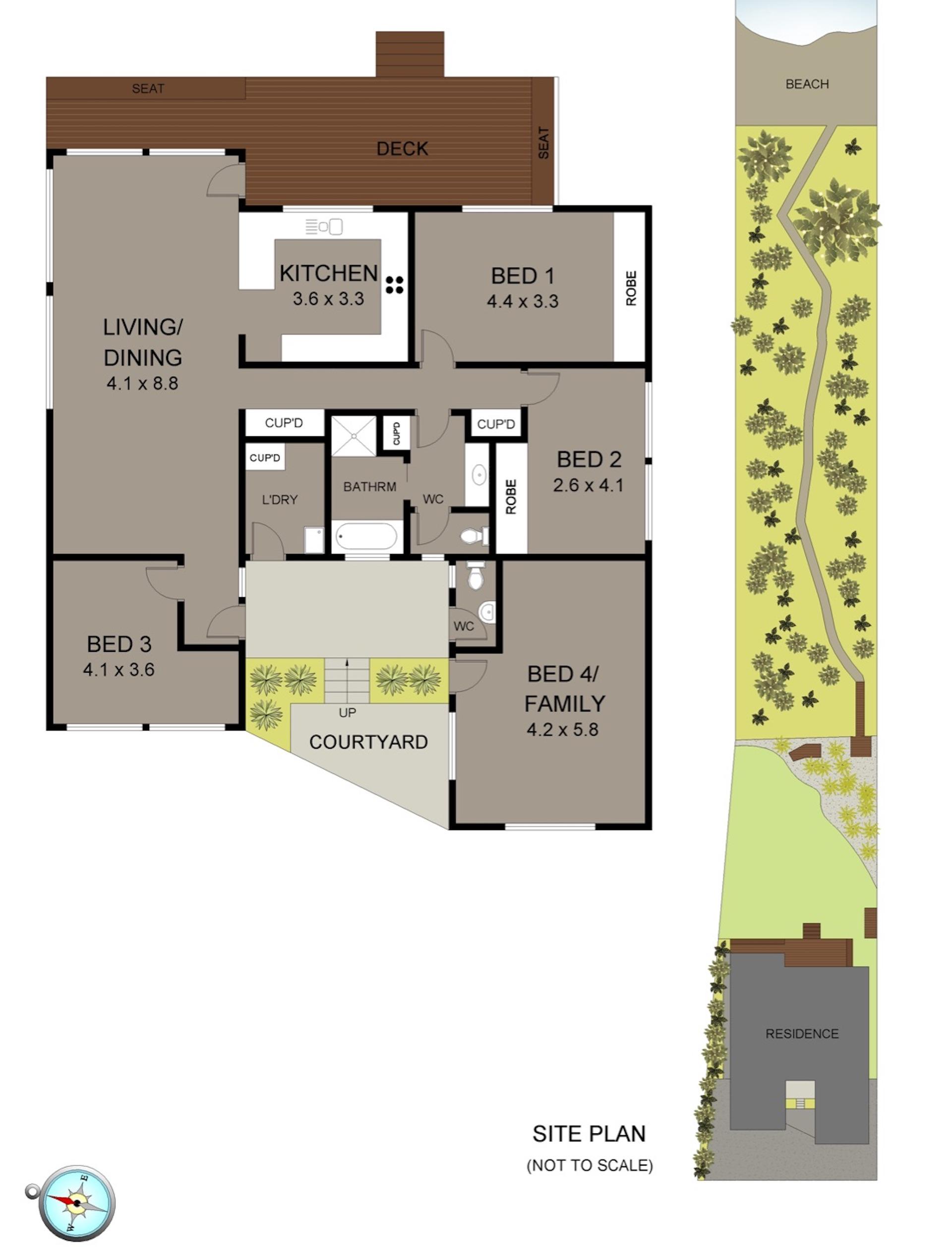 Floor Plan   The Beach House